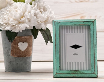 Wedding Table Number Frame Shabby Chic Picture Frame Turquoise Wood Wedding Frame Beach Wedding Frame French Country Farmhouse Home Decor