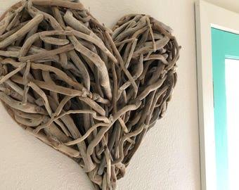 "Large Driftwood Heart  22X22"""