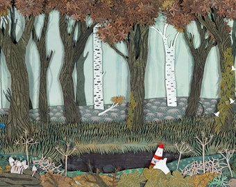 The Disenchanted Forest greetings card