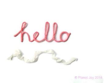 Fil « Bonjour » enveloppé en tissu