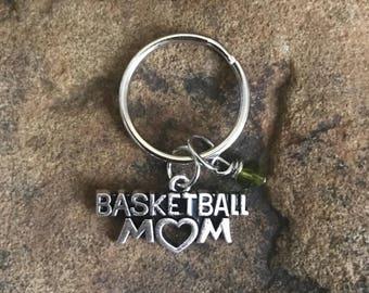 Basketball Mom Keychain, Basketball Gifts for Mom, Basketball Player, Home Run, NBA, Goal, Sports Keychain, Basketball Accessories