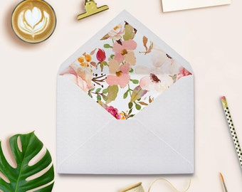 Envelope Liners, Envelope Liners Printable, Floral Envelope Liners, Wedding Envelope Liners, Instant Download Envelope Liners,