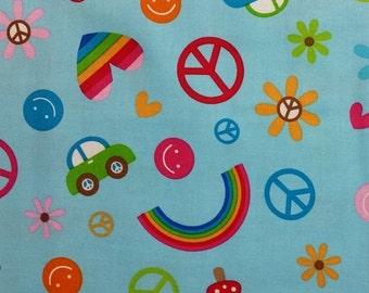 Riley Blake Feeling Groovy C6500 Cotton Fabric 1/2 yd cuts