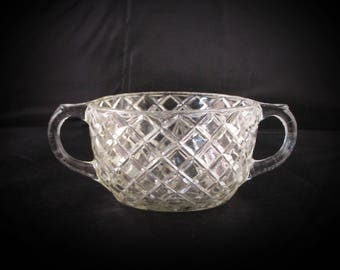 Antique Crystal Glass Bowl -c1910s - 1920s Cape May