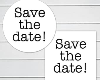 Save the Date Stickers, Save the Date Envelope Seals, Save The Date Stickers (#425)