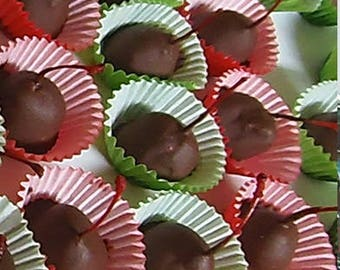 Chocolate covered Cherries or Chocolate Covered Cherry Mice Candy