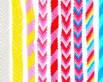 Custom Knotted Friendship Bracelet, Anklet, or Bookmark