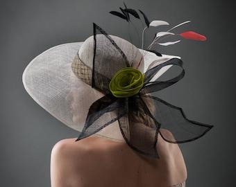 split brim sinamay hat