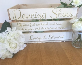 Personalised wedding box- dancing shoes storage