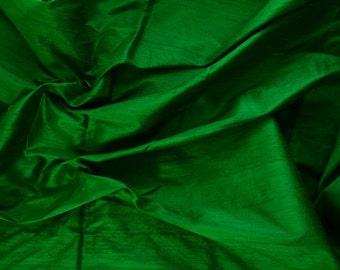 Silk Dupioni in Green,Fat quarter, D -107