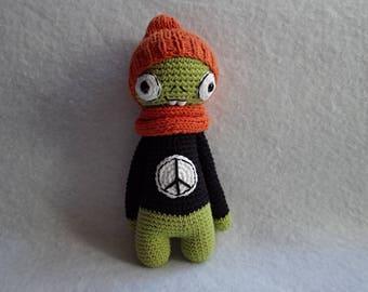 Cuddly plush Zombie crochet cotton