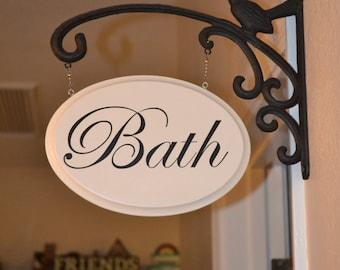 Hanging Bath Sign