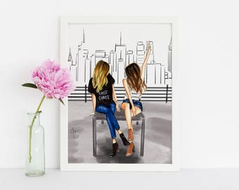 Cityscape (Fashion Illustration Print) (Fashion Illustration Art - Fashion Sketch prints - Home Decor - Wall Decor )