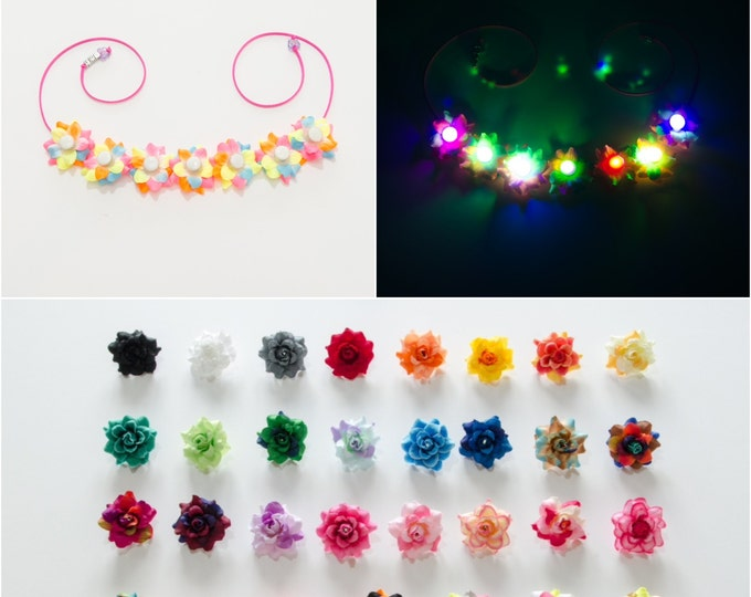 Customizable Rose LED Flower Crown