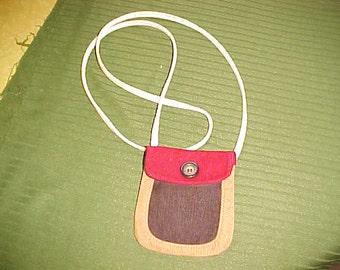 small cross-body corduroy purse ..pouch