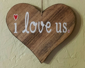 Valentine's Day, Valentine Gift, I Love Us, Romantic Gift, Girlfriend Gift, Boyfriend Gift, Wife Gift, Husband Gift, Valentine Gift Ideas