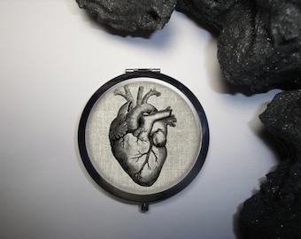 Human Heart Compact Mirror, Medical Gifts, Heart Compact Mirror, Anatomy Gift, Compact Mirror, Doctor Gift, Pocket Mirror