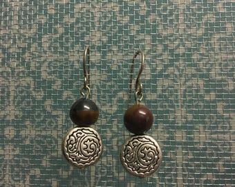 Silver & jasper earrings
