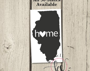 LARGE Home State Decal
