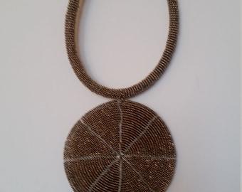 Africa handmade beaded necklace