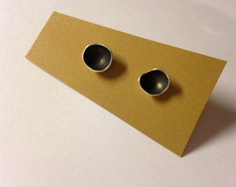 Oxidized Sterling Cup Studs