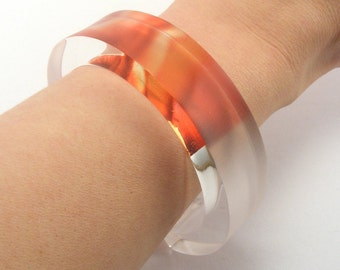 Abstract Flower Bangle Pattern Tulip Petals, Pink Red, Spring Flowers