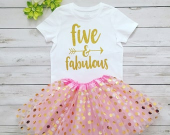 Five year old Girl Birthday outfut, Five year old Girl birthday outfit tutu skirt