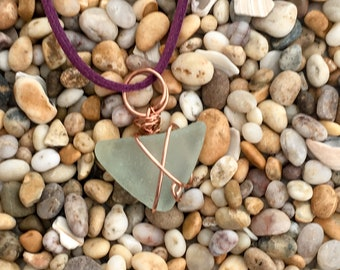 Sea Glass Wrapped in Copper - Selection#3