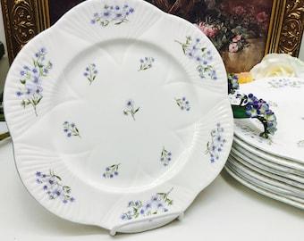 Shelley Blue Rock dinner plate