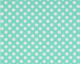 Robert Kaufman Spot On Aqua Blue Pond Dot 12872 Cotton Quilting Fabric by the Half Yard - DLP