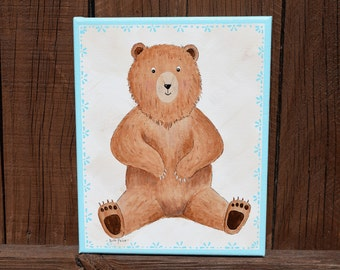 You Are My Honey Bear! - Original Bear Painting on an 8x10 Canvas