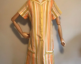 "Womans 60's ""Shaker Square"" dress by Bill Sims. Mod"