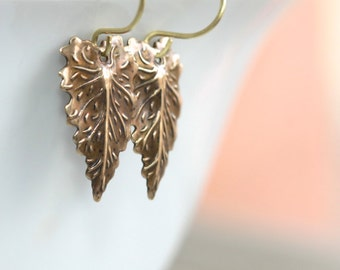 Leaf Earrings * Nature Earrings * Nature Jewelry * Forest Earrings * Forest Jewelry * Leaf Jewelry * Nature * Leaf.....* Nature Lover Gift *