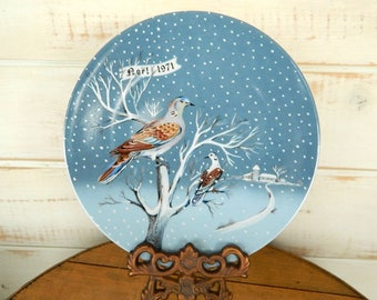 Twelve Days of Christmas Plate - Two Turtle Doves - Haviland Limoges France