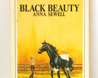 Black Beauty paperback book, Anna Sewell, large type, complete and unabriged, 1968