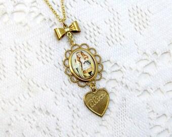 Alice In Wonderland Necklace Drink Me Pendant Jewelry