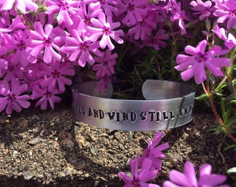The waves and wind still know His name metal cuff