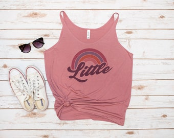 Big and Little Tank, Sorority, Reveal, Rainbow, Big Sis, Little Sis, GBig, GGBIG, GGGBIG, GLittle, Retro, Vintage