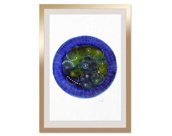 Watercolor Planet, Watercolor Print, Watercolor Circle Print, Modern Wall Art, Abstract Art, Watercolor Art, Moon Painting, Home Decor