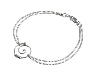 Dew Drop Tendril Spiral Bracelet