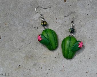 Cactus earrings Cactus jewelry Succulent earrings Succulent jewelry Polymer clay earrings Polymer clay cactus Polymer clay jewelry OOAK