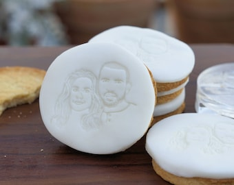 Fondant stamps with your portrait image - photo