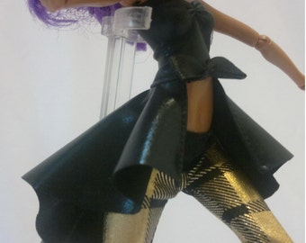 Dolls tops clothes for Monster high doll- Dovetail/Black imitation No.799