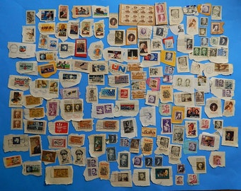158 U.S. Vintage Cancelled Used Postage Stamps Olympics Black Heritage Presidents Space Famous People