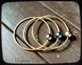 Tahitian Pearl Bangle Set