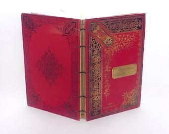 Custom Wedding Guest Book, Marriage Scrapbook, Anniversary Keepsake, Vintage Style Journal, Romantic Antique Rebound Blank Book, Large
