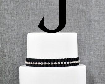 Letter J - Initial Cake Topper, Monogram Wedding Cake Topper, Custom Cake Topper