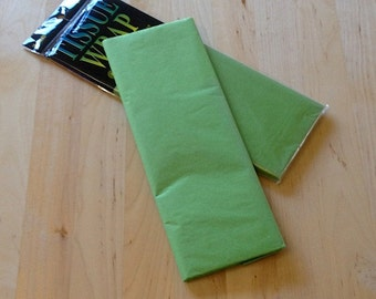 Bright Green Tissue Paper - 10 Sheets - Gift Wrap - Craft and Party Supplies