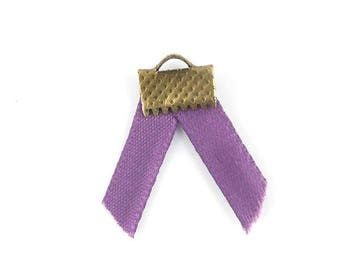 x2m medium purple satin ribbon 5mm (50A)