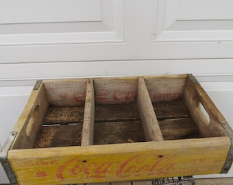 Vintage Wooden Coca Cola Soda Pop Crate.